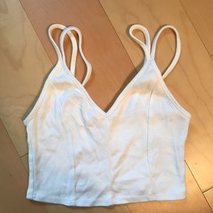 Urban Outfitters White Crop Tank Top - Size M
